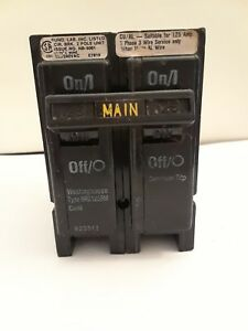 Westinghouse Br2125bm 2 Pole 125 Amp 120 240v Common Trip Circuit Breaker