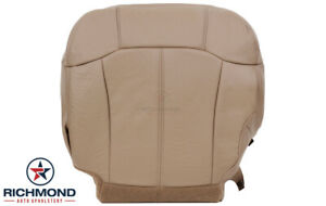 2000 Chevy Silverado 1500 Lt Driver Side Bottom Leather Seat Cover Dark Oak Tan