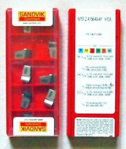 Sandvik Grooving Parting Ceramic Inserts N151 2 500 40 4p H13a make Offer