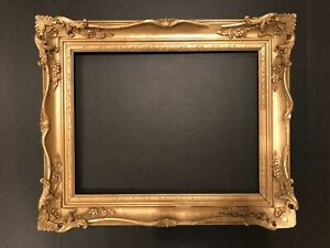 Antique 18x14 French Style Baroque Gold Picture Frame 19b