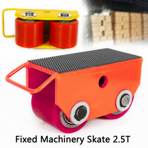 2 5t 5500lb Fixed Steel Machinery Mover Roller Dolly Skate 360 Swivel Top Plate