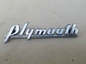 1930s 1940s Plymouth Emblem Script Thank You