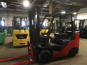 2014 Toyota 6500 Lb Forklift With Side Shift And Triple Mast