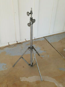 Vintage Hollywood Heavy Duty 3 Section Light Stand Solid Steampunk Decor