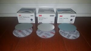 3m Trizact Discs 3 1000 3000 5000 Grits 2 Of Each 6 total Discs