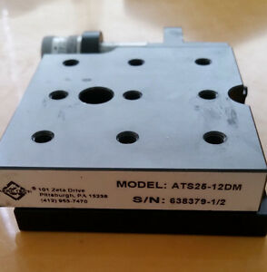 Aerotech Ats25 12dm Precision Linear Stage Micrometer Resolution Drive