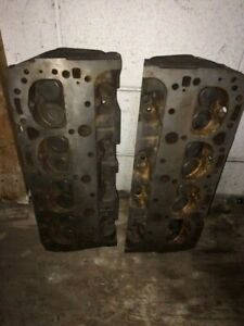 1956 73 Chevy 283 Cylinder Heads 1964 3795896 Dated F16 4 F24 4