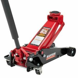Professional Grade Aluminum And Steel Service Jack 3 Ton Factory Sealed Safety