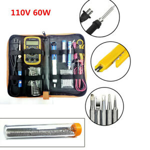 110v 60w Adjustable Electric Heating Temperature Gun Welding Soldering Iron Tool