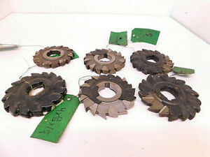 Lot 47 6pcs Resharpened Hss Staggered Tooth Milling Cutters arbor 1 1 4