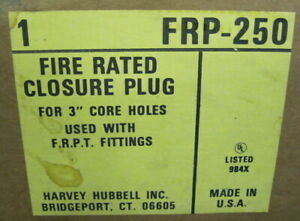 Harvey Hubbell Frp 250 Fire Rated Closure Plug For 3 Core Holes