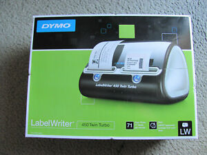 New Dymo Labelwriter 450 Twin Turbo Label Thermal Printer Maker Writer