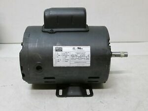 1 5 Hp Electric Motor Air Compressor Duty 56 Frame 3490 Rpm Single Phase Weg New