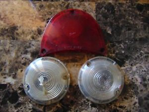 Vintage 1957 57 Chevrolet Tail Light Lens Guidex Guide R1 57 5948104 Lot Of 3