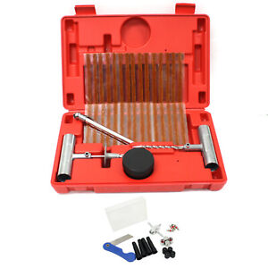 New Auto 50pc Tire Repair Road Side Punctured Tool Plug Patch Kit