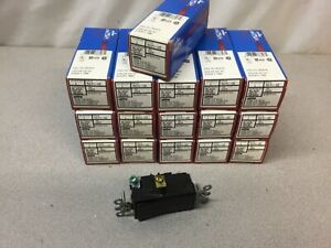 new Lot Of 16 Leviton 5691 2e 15 A 120 277 V Decora Plus Black Rocker Switch