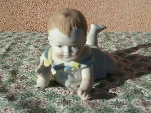 Vintage Victorian Early 1900s Piano Baby 9 Antique Bisque Porcelain Doll Noveau