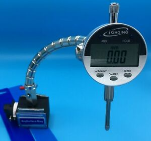 Electronic Indicator With Flexible Arm Magnetic Base And Hard Plastic Case