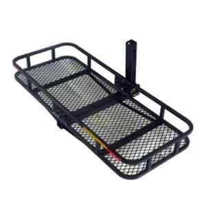 Hitch Mounted Folding Cargo Carrier With Waterproof Bag Steel Oxford Fabric