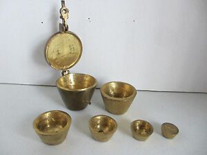 Antique Set Of Cup Weights 6