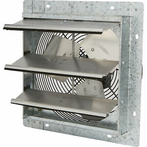 Strongway Enclosed Shutter Exhaust Fan 12in 1 20hp 1100cfm