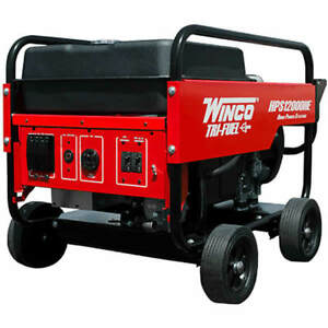 Winco Hps12000he 10 800 Watt Tri fuel Generator W Electric Start Honda Eng