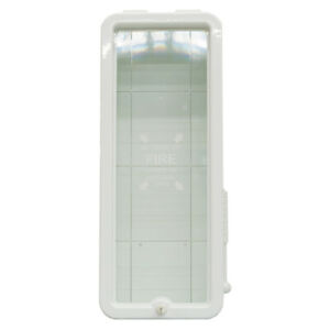 Fire Tech 10 Lb Fire Extinguisher Cabinet Indoor Outdoor White Free Shipping