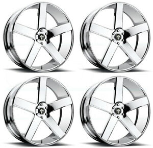 24x9 Dub Baller S115 5x115 15 Chrome Wheels Rims Set 4