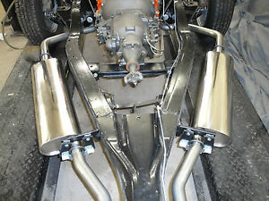 1958 Chevrolet Stainless Steel Dual Exhaust Kit Direct Fit 348 Bbc 2