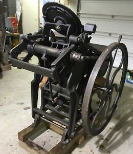 Chandler And Price 10x15 Antique Letterpress Printing Press Great Machine