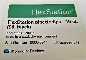 960 10 X 96 well 200 l Pipette Tips Black Molecular Devices Flexstation z2s3