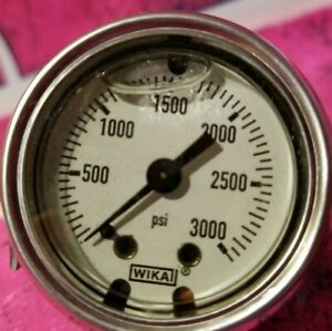 Wika 50701029 Commercial Pressure Guage Liquid Filled Copper Alloy Wetted 1 1 2