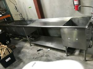 Large Restaurant Stainless Steel Sink