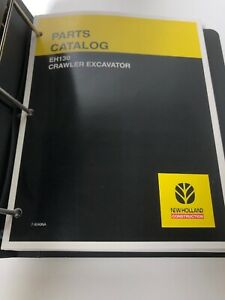 New Holland Eh130 Excavator Parts Catalog Manual W Binder