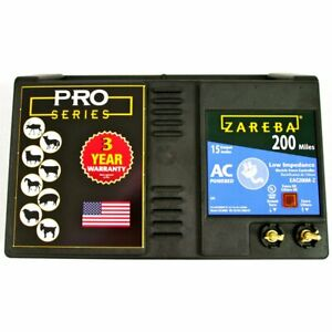 Zareba Eac200m z 200 mile Ac powered Low impedance Electric Fence Charger