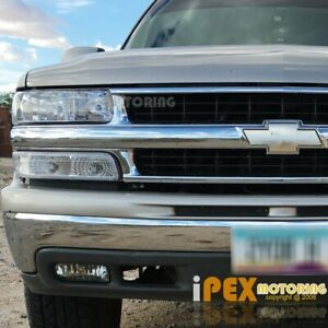 For Chevy Suburban Tahoe Silverado Chrome Headlights Signal Light Fog Light