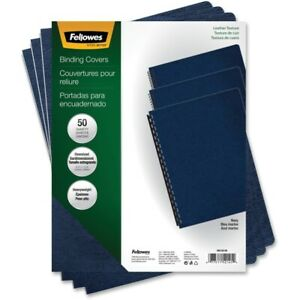 Fellowes Executive Presentation Covers Oversize Navy 50 Pack 11 3 Height X