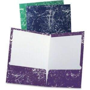 Tops Oxford Marble Laminated Twin Pocket Folders Letter 8 1 2 X 11 25