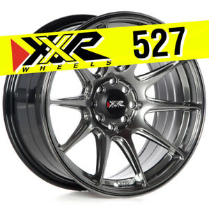 Xxr 527 16x8 4x100 4x114 3 20 Chromium Black Wheels Set Of 4