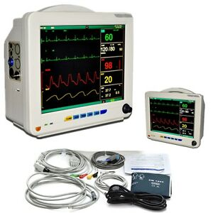 Fda 12 1 Medical Icu Ccu 6 Parameters Vital Signs Patient Monitor Nibp Alarm