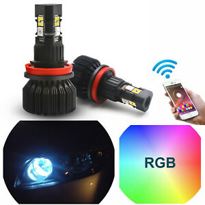 Phone App Smart Control Multi Color Rgb High Beam Drl For Honda Civic 2008 2018