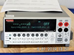 Keithley 2400 Sourcemeter 200vdc 1a 20w nist Cal ed 3 In Stock