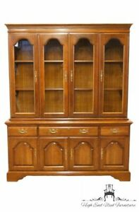 Cresent Solid Cherry 64 Breakfront China Cabinet