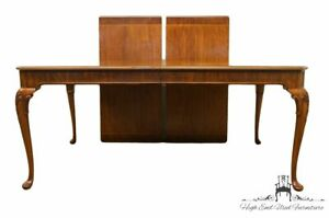 Ej Victor Solid Banded Mahogany Queen Anne 112 Dining Table