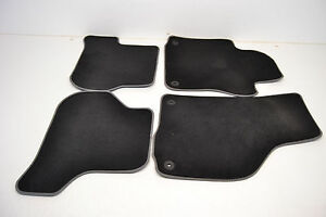 Mk6 Vw Gti Golf R Black Floor Mats Carpets W Grey Piping Genuine Oem 2010 2014
