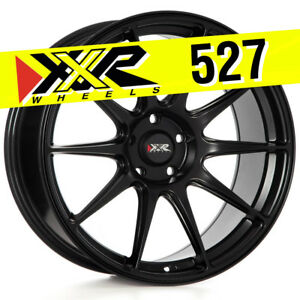 Xxr 527 19x8 75 5x114 3 38 Flat Black Wheels set Of 4