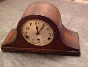 Antique Mantle Clock Nelson Hat Style 3 Train Westminster Chime 42x23x15cm