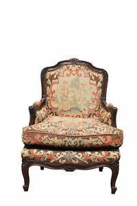 Needlepoint French Style Arm Chair