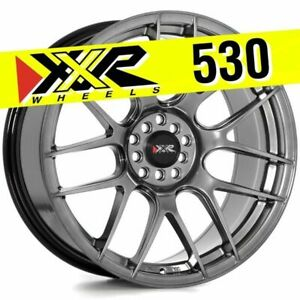 Xxr 530 19x8 75 5x114 3 5x120 35 Chromium Black Wheels set Of 4