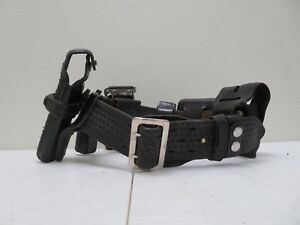 Bianchi b2 Leather Police Security Duty Belt Size 30 With 6 Accessories